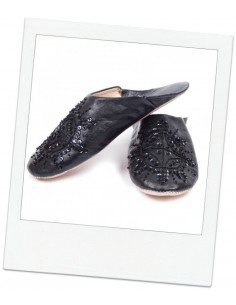 Babouches slippers - Black Kenzi