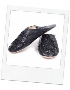 Babouches slippers - Black Kenzi
