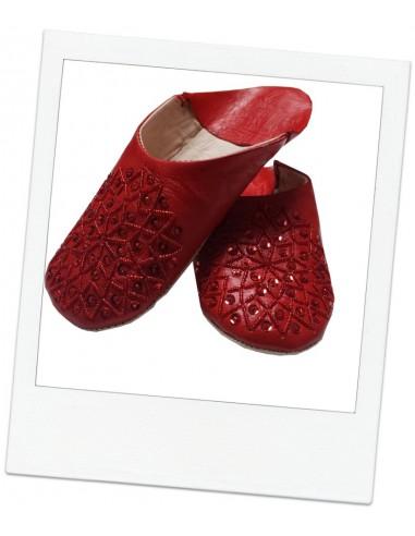 Moroccan slippers - Red Kenzi