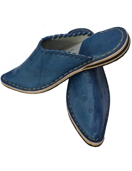 Babouches Aladin Bleue