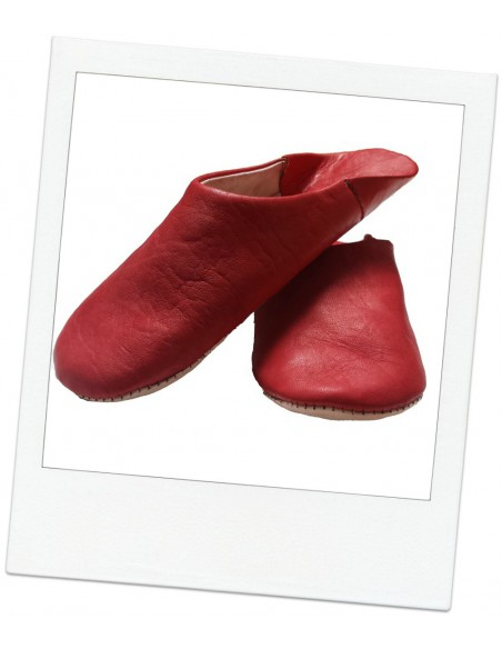 Moroccan slippers  - Sahara red