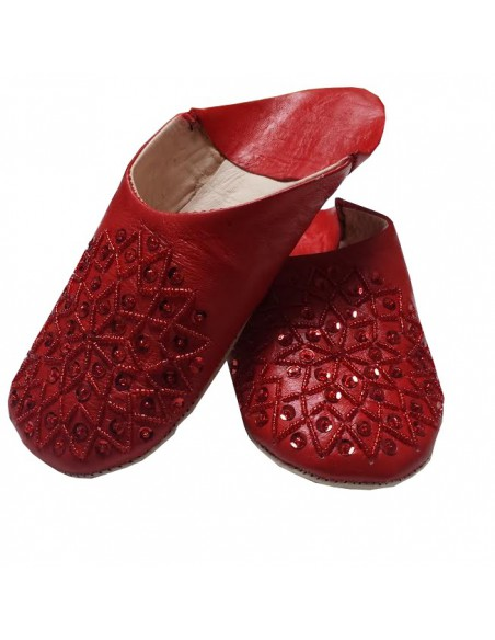 Babouches slippers - Red Kenzi