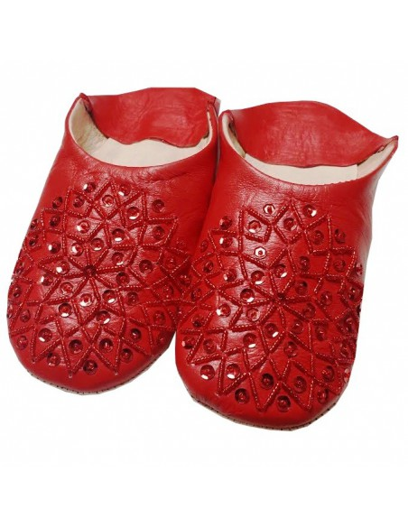 Moroccan slippers - Red Kenzi