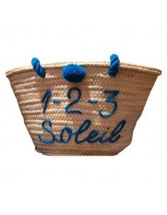 Wicker basket 1 2 3 soleil
